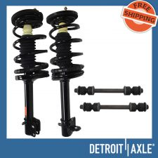 Buy NEW 4 pc Kit - 2 Complete Rear Ready Strut Assembly + 2 Sway Bar Stabilizer Link