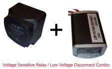 Buy Low Voltage Disconnect / Voltage Sensitive Relay Combo Caravan RV Dual Battery