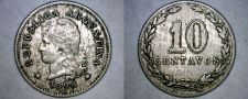 Buy 1898 Argentina 10 Centavo World Coin