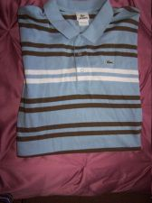 Buy LACOSTE MENS STRIPED SHORT SLEEVE POLO SHIRT - SIZE 9 3XL