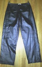 Buy CHADWICK'S Black Leather High Rise Bootcut Lined Riding PANTS Women's Size 12