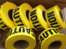"Buy TWO PACK-Yellow CAUTION FLAGGING Tape 1 3/16"" X300 foot roll -Free USA shipping"