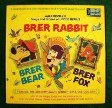 Buy BRER RABBIT ~ BRER BEAR ~ BRER FOX Disney's Uncle Remus / Disneyland Book & LP