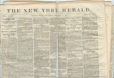 Buy New York New York City Newspaper Title: New York Herald Date: Nov-28-1860~3