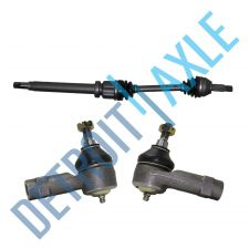 Buy Front Pass. Side FORD FOCUS CV Drive Shaft + 2 Outer Tie Rods ES3588+ES3587