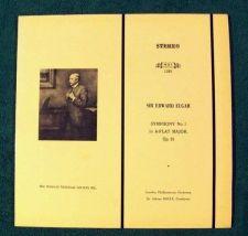 Buy SIR EDWARD ELGAR ~ Symphony No. 1 in A-Flat Major, Op. 55 Adrian Boult LP