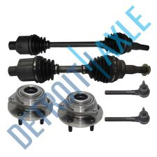Buy Front Driver and Passenger CV Axle Shaft No ABS + 2 Tie Rod +2 Wheel Hub Bearing