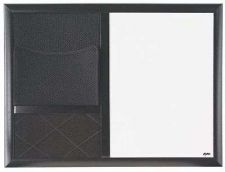 "Buy Combo Dry Erase Board w/ Black Wood Composite Frame 18""x24"" Whiteboard Marker Of"