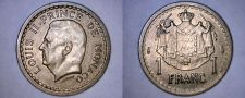 Buy 1945 Monaco 1 Franc World Coin