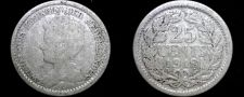 Buy 1918 Netherlands 25 Cent World Silver Coin