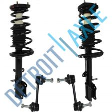 Buy NEW 4 pc Kit - 2 Rear Ready Strut Assembly and 2 Stabilizer Sway Bar Link Set