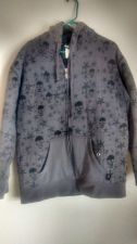 Buy HYBRID GRAY BLACK JACKET SIZE M Cotton/Polyester, Solids with graphic design
