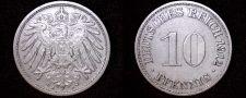 Buy 1912-A German 10 Pfennig World Coin - Germany