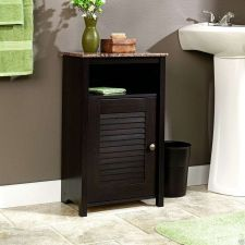 Buy Bathroom Space Saver Floor Bath Cabinet Cherry Furniture Storage Sauder Wood
