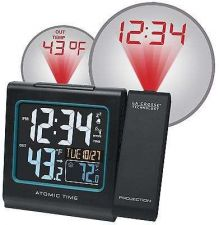Buy Office Alarm Clock La Crosse Digital Projection Time Atomic LCD Temperature Desk