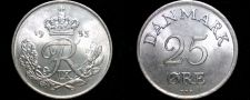 Buy 1953 Danish 25 Ore World Coin - Denmark