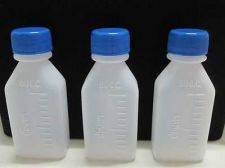 Buy 10 Plastic Bottles Square HDPE Squeezable Travel Chemical Medicine Soap 60ml 2oz