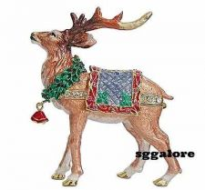 Buy RUCINNI Swarovski Crystals BeJeweled REINDEER Trinket Jewelry BOX CHRISTMAS