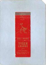 Buy New York Staten Island Matchcover Tysen Lounge 2750 Hylan Blvd Masters Sho~68