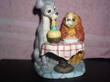 Buy Lady and Tramp Spaghetti Dinner Walt Disney Productions WDP porcelain bisque fig