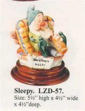 Buy Disney Snow White Sleepy Musician Laurenz Capodimonte C.O.A. Original Box