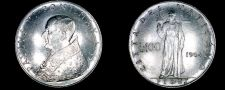 Buy 1964 Vatican City 100 Lire World Coin - Catholic Church Italy