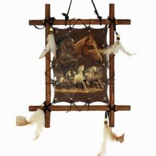 Buy Wooden Frame Horses Picture (Dream Catcher) ***ON SALE***