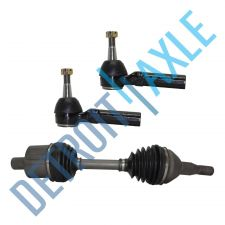 Buy 98-09 Front Driver Side Buick Olds CV Axle Shaft Assembly + 2 Outer Tie Rods