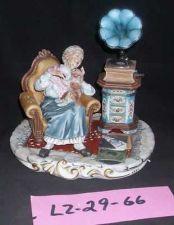 Buy CAPODIMONTE Grandmother with Gramaphone Laurenz Sculpture COA Italy #66