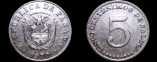Buy 1970 Panamanian 5 Centesimo World Coin - Panama