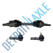 Buy 3 pc Kit - Front Passenger Side CV Drive Axle Shaft w/ ABS AX4N + 2 Tie Rod Ends