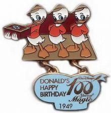Buy Donald Duck Happy Birthday 1949 Dangle Japan authentic Disney pin/pins