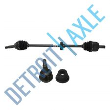 Buy 2 pc Set - Front Driver Side CV Axle Shaft + Lower Ball Joint