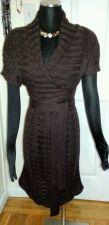 Buy Maroon Sweater Dress V Neck Short Sleeve By VS Moda International-30% Wool-SizeS