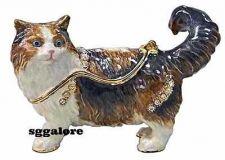 Buy New RUCINNI Swarovski Crystals BeJeweled PERSIAN CAT Trinket Jewelry BOX CATS