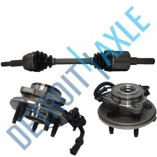 Buy 2 NEW Complete Front Hub Assembly + Complete Front Driver Side CV Drive Axle