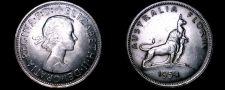 Buy 1954(m) Australian 1 Florin World Silver Coin - Australia