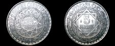 Buy 1951 (Year 1370) Moroccan 5 Franc World Coin - Morocco