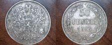 Buy 1916-S Finland 50 Pennia World Silver Coin Russian Admin