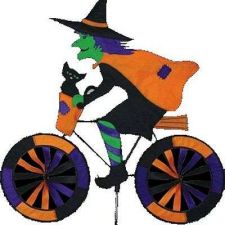 Buy Witch On Bicycle Garden Spinner Halloween Holiday Decor Outdoor Seasonal Toys