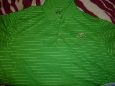 Buy NEW WALTER HAGEN Men's L Green Stripe Poly Tennis Golf Polo Shirt SZ XXL