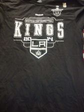 Buy Los Angeles Kings Shirt Men's NHL Hockey sz L Western Conference Final 2014