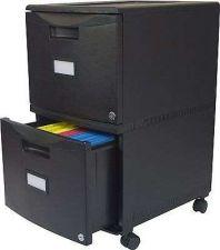 Buy Two Drawer Filing Cabinet Hang File Storex Wheeled Office Home Organizer Black