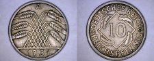 Buy 1931 A German 10 Reichspfennig World Coin - Germany Weimar Republic
