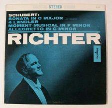 Buy SCHUBERT ~ Sonata In C Major / Allegretto In C Minor + S. Richter LP