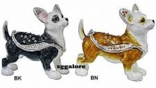 Buy New RUCINNI Swarovski Crystals BeJeweled CHIHUAHUA Dog Trinket Jewelry BOX