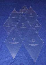 "Buy Quilt Templates-60 Degree Diamond Set-2,3,4,5,6,7,8,9,10 1/8"" w/guideline holes"