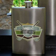 Buy Guys Gun Metal Party Flask - Several Designs - Free Personalization