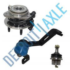 Buy Kit of 3 Wheel Hub and Bearing + Upper Right Control Arm + Lower Ball Joint -4WD