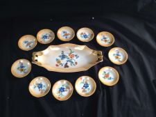 Buy antiqoe porcelain Petit Four Set 12 parts . Marked Victoria + Crwon